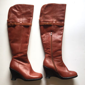 John Fluevog Mallory Apricot Over Knee Boots